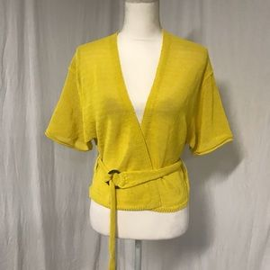 Free People Oh Hello! Mustard Yellow Cardigan S